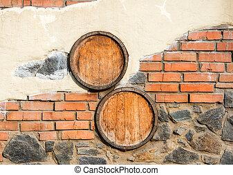 parede pedra, textura