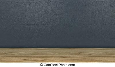 parede, prateleira, cinzento