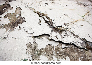 parede, rachado, superfície