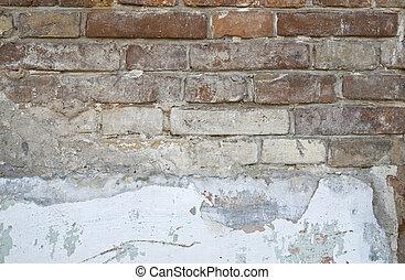 parede, tijolo, antigas, Estrutura