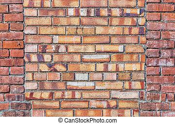 parede, tijolo, antigas, fundo, textura