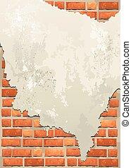 parede, tijolo, antigas