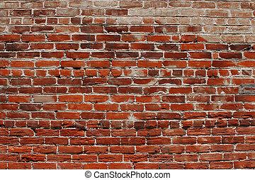parede, tijolo, fundo