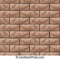 parede, tijolo, fundo, seamless, textura