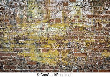 parede, tijolo, graffiti