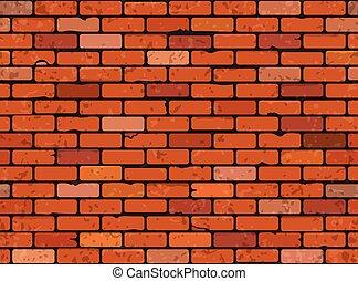 parede, tijolo, seamless