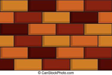 parede, tijolo, seamless, textura