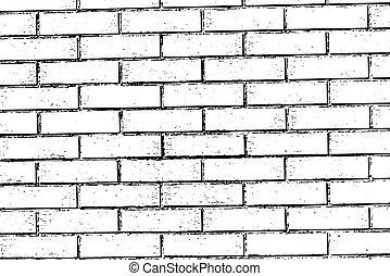 parede tijolo, textura, fundo