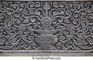 parede, tradicional, prata