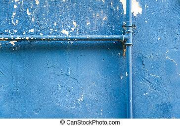 parede, tubo,  grunge