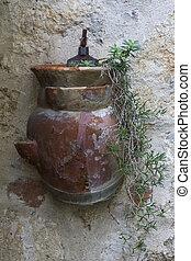 parede, vaso