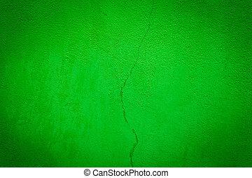 parede, verde, grunge, textured