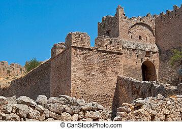 paredes, antiguo, corinth.