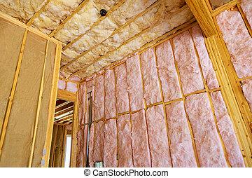 paredes, fibra, algodón, termal, lana, casa, aislamiento, materiales, mineral