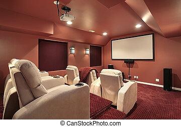 paredes, teatro, rojo