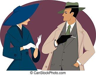 pareja, 1950s