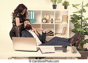 pareja, amor, sexy, relación, mujer, su, revelado, lugar de...