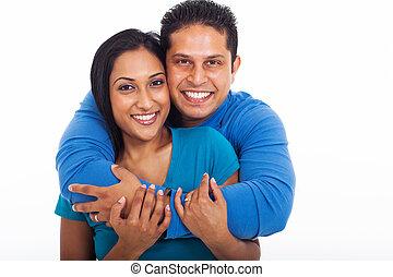 pareja, amoroso, se abrazar
