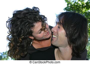 pareja, attractrive