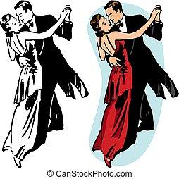 pareja, baile de salón
