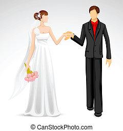 pareja, casado