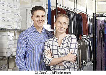 pareja, corriente, en línea directa, moda, empresa / negocio