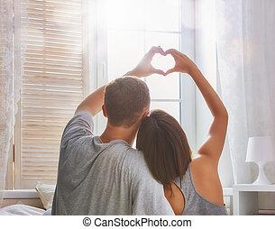 pareja, enamorado