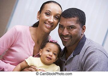 pareja, hija, joven