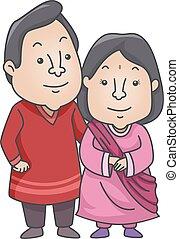 pareja, indio