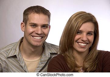 pareja, joven, 3