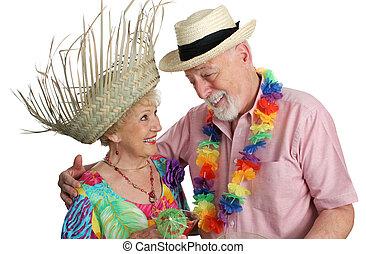 pareja mayor, el vacationing