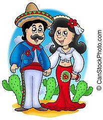 pareja, mexicano, boda