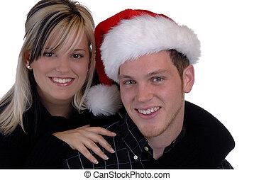 pareja, navidad