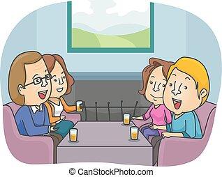 pareja, padres, introducir