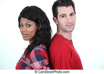 pareja, posición, de nuevo a la parte posteriora