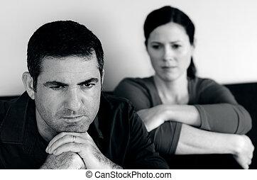 pareja, relación, -, concepto, foto