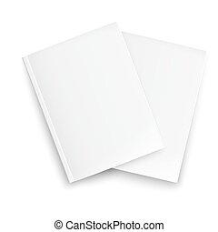pareja, revistas, template., cerrado, blanco