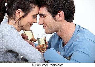 pareja, romántico