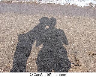 pareja, sombra