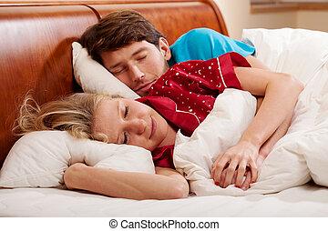 pareja, sueño