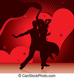parejas, bailando