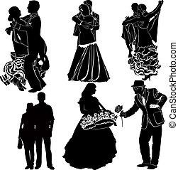 parejas, casado