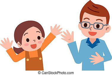 Parent and child - Vector illustration.