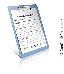 parent, formulaire, permission