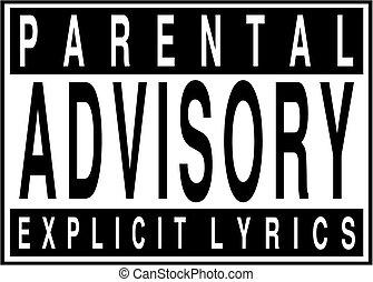 Parental advisory explicit lyrics sign