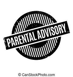 Parental Advisory rubber stamp