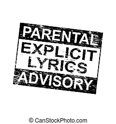 Parental Advisory Stamp - Parental advisory explicit lyrics...