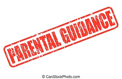 PARENTAL GUIDANCE red stamp text on white