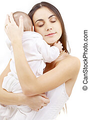 parenthood #2 - picture of happy mother with baby boy