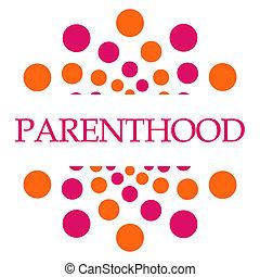 Parenthood Pink Orange Dots